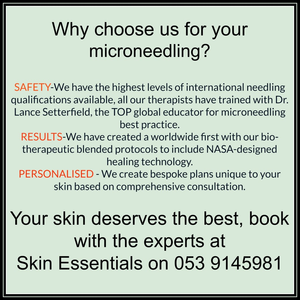 Microneedling at Skin Essentials by Mariga is your best choice for safety, experience, education and results.