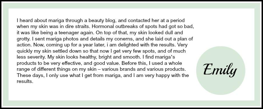 Emily online testimonial