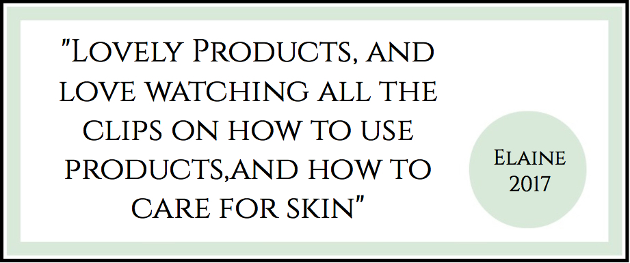Lovely Products, and love watching all the clips on how to use products,and how to care for skin