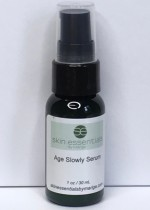 Age Slowly line reducing serum fromI Wexford based Irish skincare company Skin Essentials by Mariga. 30ml pump bottle of concentrated vitamin A and anti-oxidants for smooth, radiant, even skin.