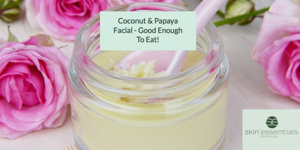 Coconut Papaya facial graphic
