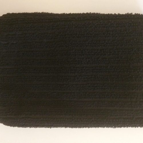 Black micro fibre cloth, removes make-up, cleans skin, skin essentials by mariga