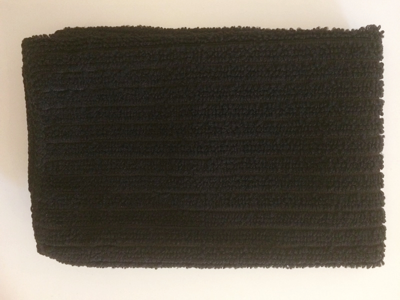 Black micro fibre cloth, removes make-up, cleans skin, skin essentials by mariga
