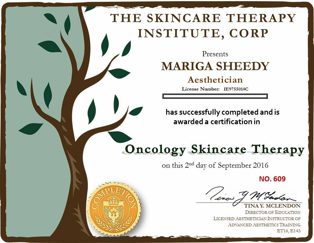 Sooth and restore dry skin conditions caused by your cancer treatment with the help of Skin Essentials by Mariga, the first skincare clinic in Ireland to achieve this oncology skincare therapy accreditation. We offer advice, treatments and a safe, relaxing space