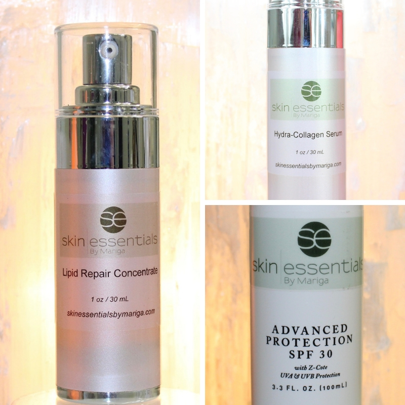 Lipid repair, hydra-collagen serum, spf30, antiageing products, skin essentials by mariga