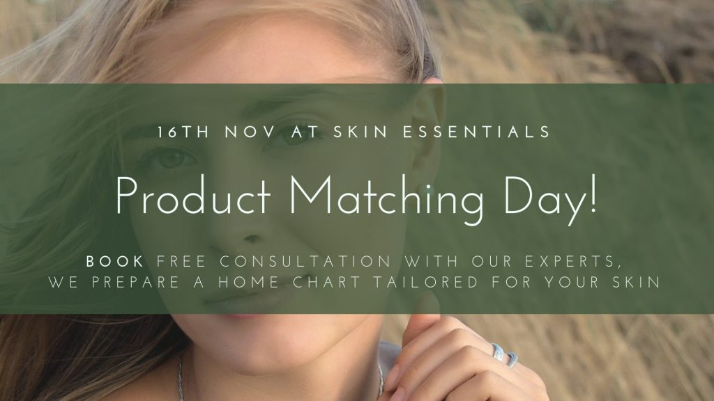 product matching day, customer event, skin essentials by mariga, wexford