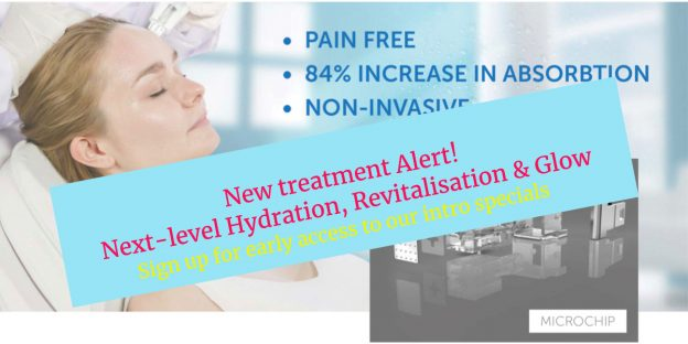 Coming soo to Skin Essentials wexford mesotherapy intro graphic with treatment photo