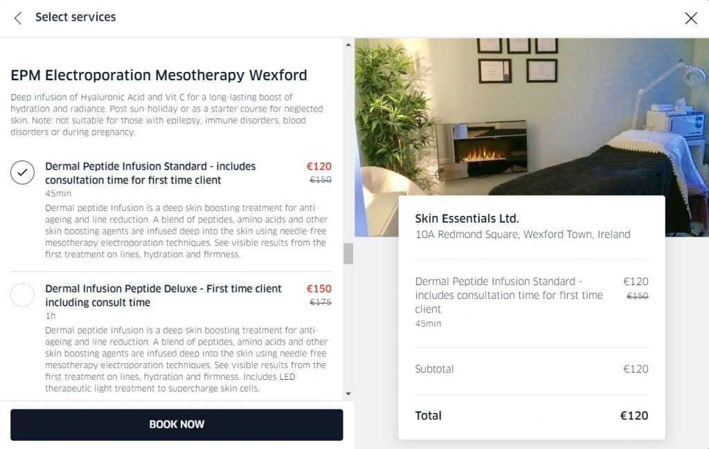 mesotherapy, dermal peptide infusion, smartmeso, skin essentials by mariga, wexford, skincare,