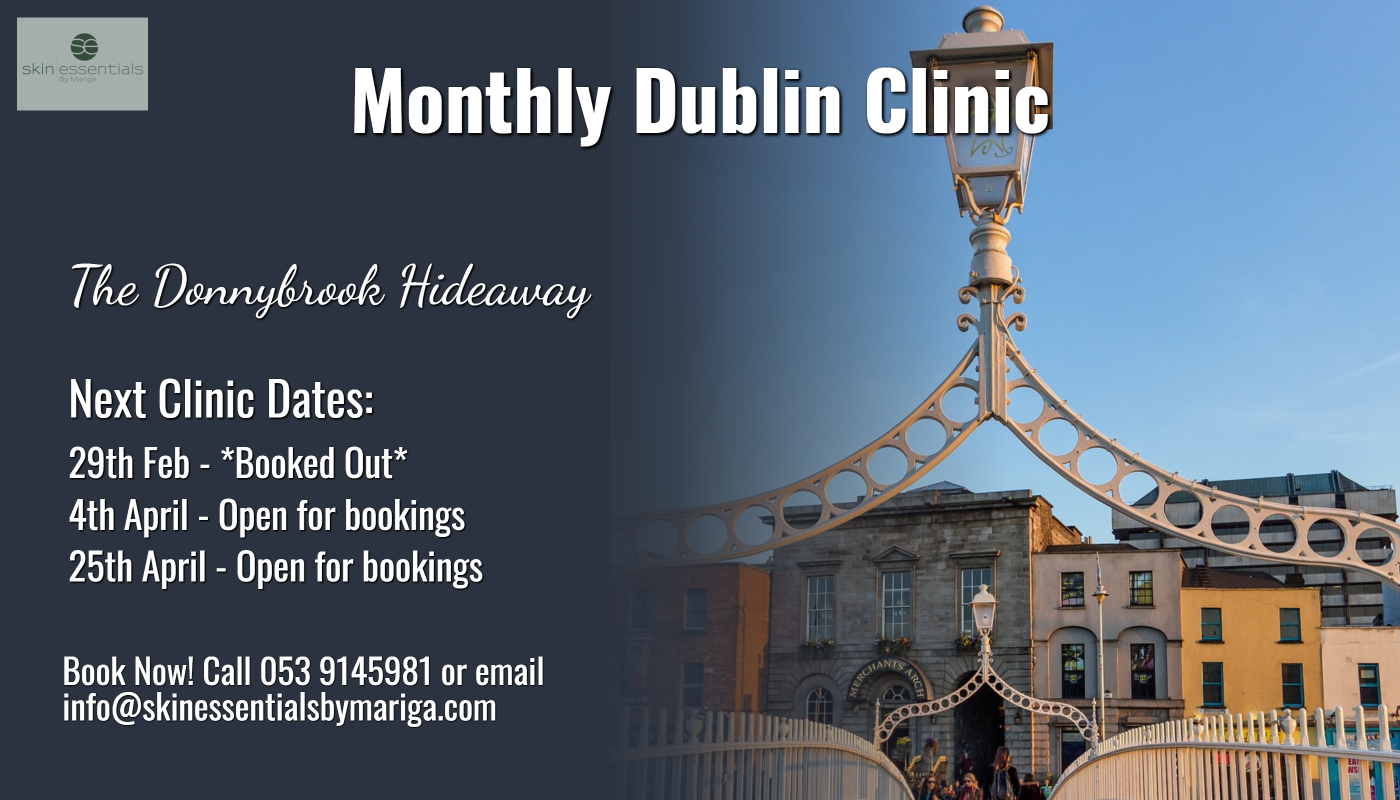 Donnybrook clinic, skin essentials by mariga, dublin clinic, cryotherapy, diathermy, sunspot removal, pyramid facelift