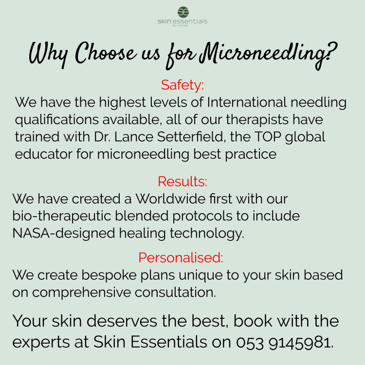 microneedling, skin essentials by mariga, wexford,