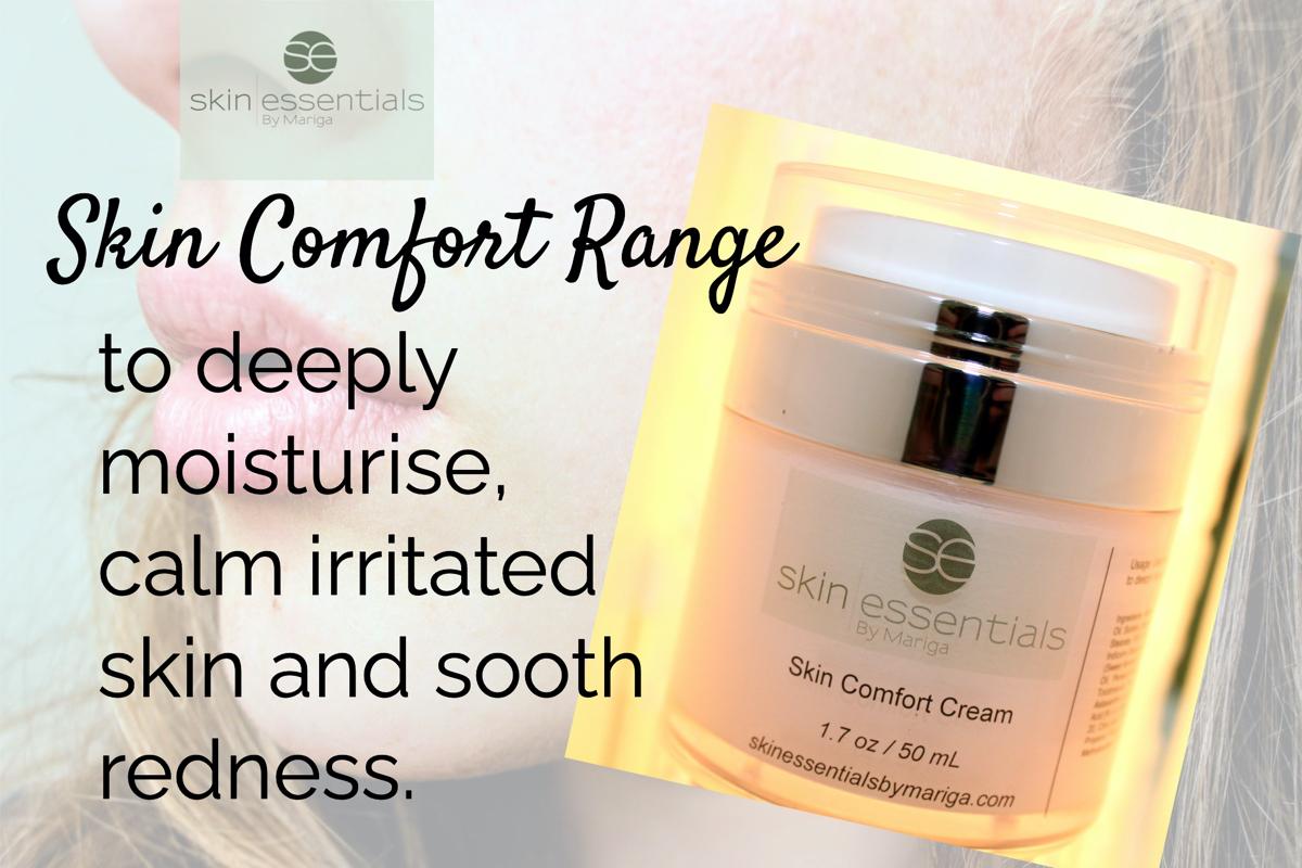 Picture of Skin Comfort Cream on Skin Essentials by Mariga logo background