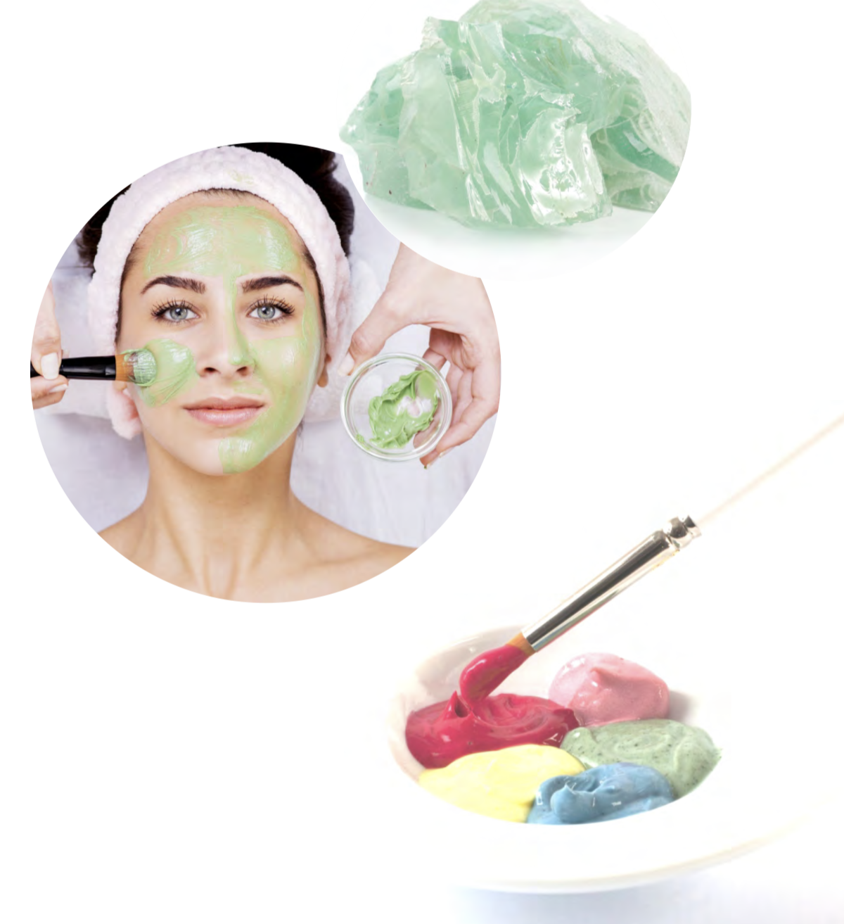 Image showing a face mask being applied on a ladies face with a brush